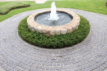 Garden waterfalls Foto de archivo
