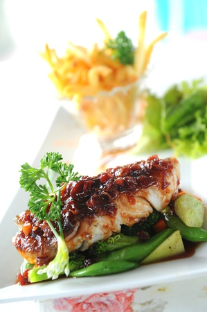 fillet fish steak photo