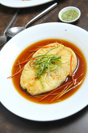 fish in soy sauce photo