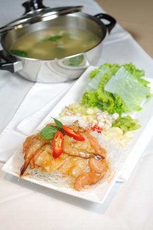 vermicelli: prepare prawn