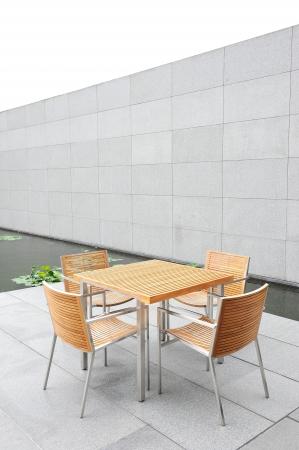 outdoor table Foto de archivo