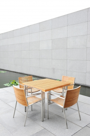 outdoor table Banque d'images