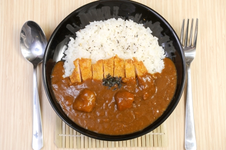 beef curry: Japanese curry and rice Stock Photo