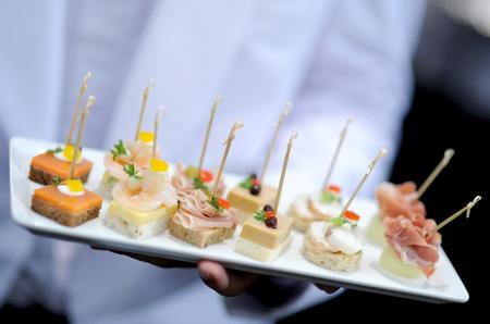 serving food: snack