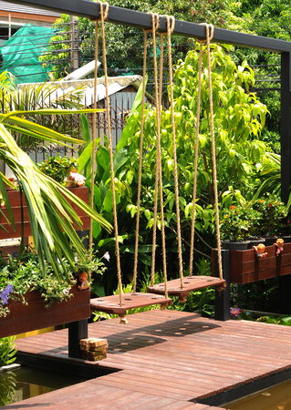 obody: in garden