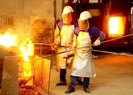 smithery: burning Stock Photo
