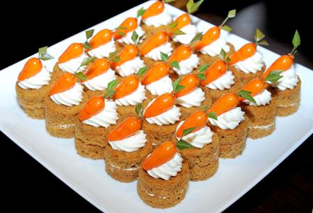 carrot cake: cake Stock Photo