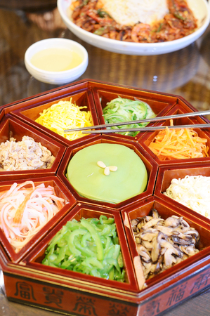 shush: korean food Stock Photo