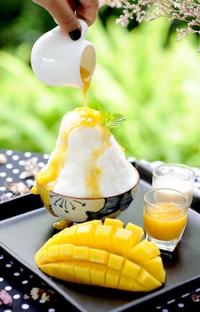 mango ice Stock Photo