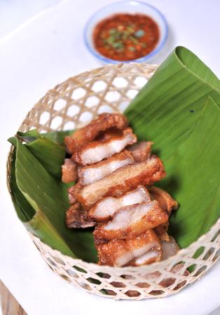 rou: pork deep fry - asia food Stock Photo