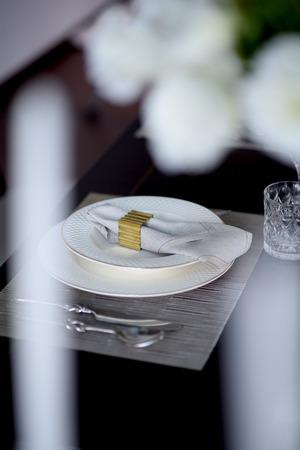 serving utensil: plate on table