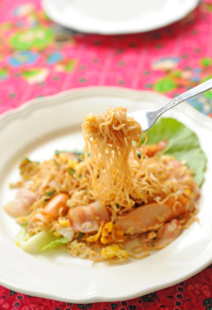 Asian noodles Stock Photo