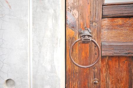 wrought iron in door
