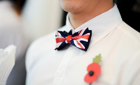 영국 나비 넥타이 스톡 콘텐츠
