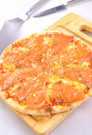 pizza and salmon Zdjęcie Seryjne
