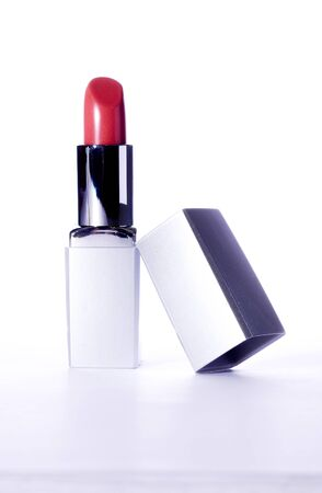 red Lipstick isolated on a white background Stock Photo