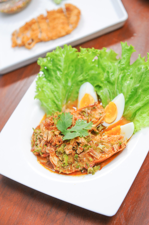 prawn spicy with egg
