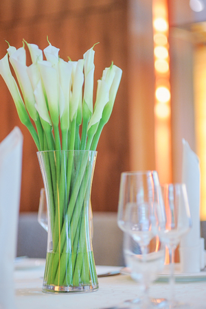 Flower table decorations Stock Photo