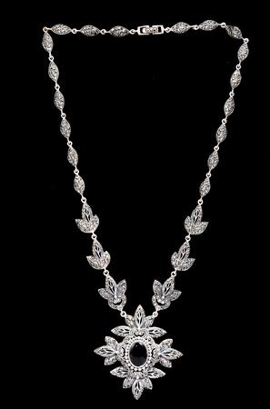 necklace diamond on white background