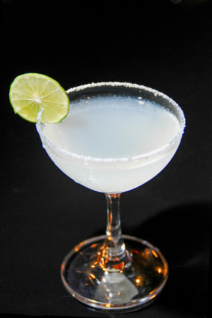 cocktail with lime and salt