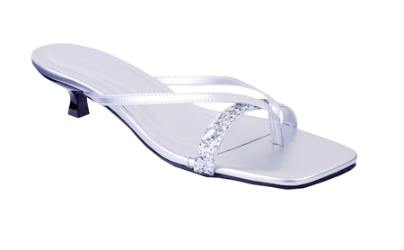 silver sandal Product Isolated on white background