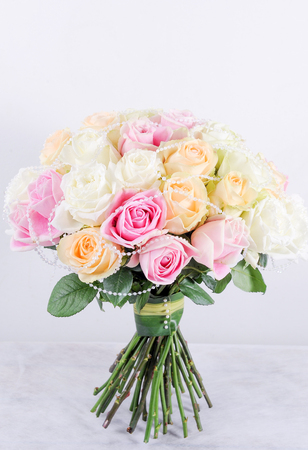 beautiful bouquet of roses flower