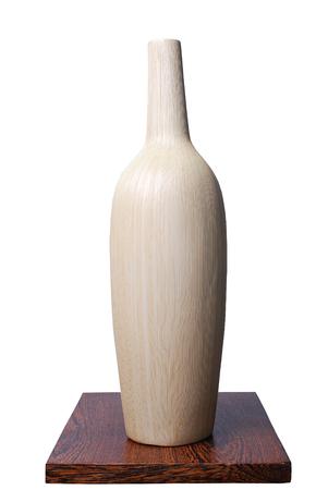 ceramic vase on white background