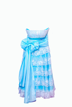 beautiful Light blue dress Stock Photo