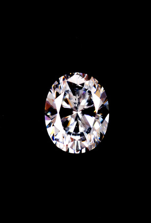 diamond on black background Stock Photo