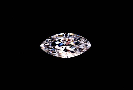 top view of diamond isolated on black background Stockfoto