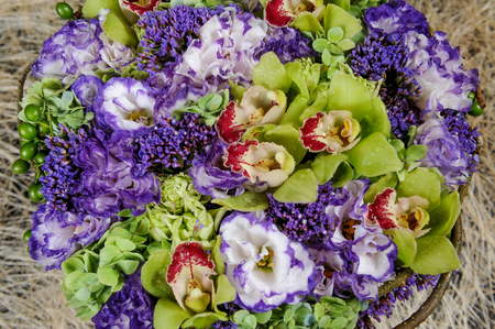Bunch of colorful flowers or flower bouquet Stockfoto
