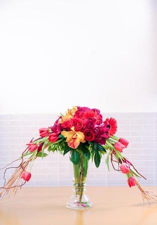 Beautiful bouquet in a glass jug
