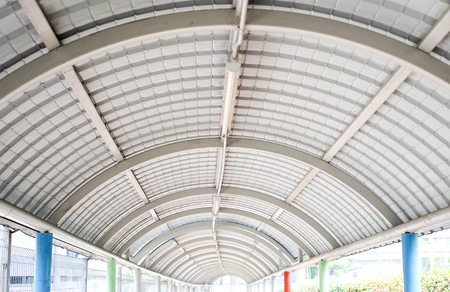 walkway tunnel with metal