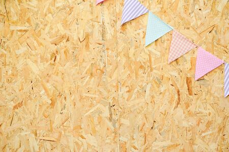ribbon and wooden boards Stock Photo