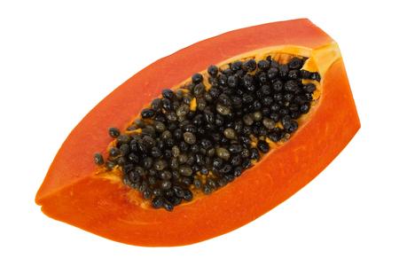 cranny: papaya in white isolate background