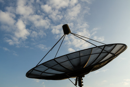 antenna: Satellite antenna Stock Photo