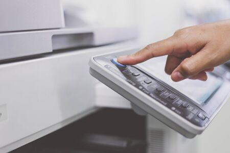 scaner: button on printer