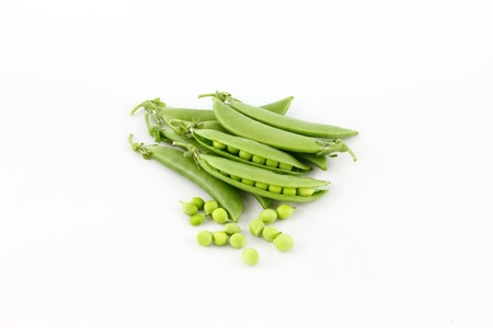 Sugar snap pea  isolated on white background   photo