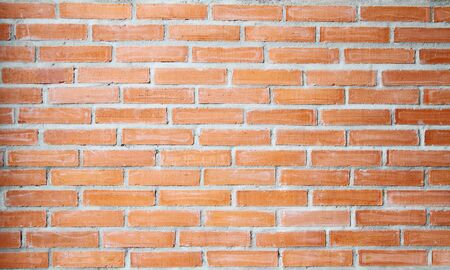 Background of red brick wall texture photo