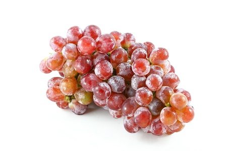 Red grape bunch isolated on white background photo