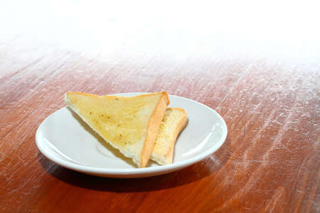 buttered: Breakfast buttered bread