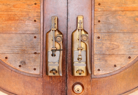 Door handles design a bottle photo