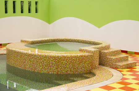hydromassage: Jacuzzi in swimming pool