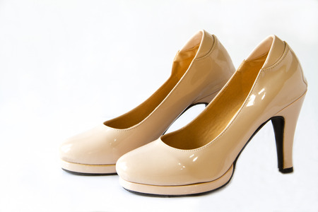 Woman shoes isolated on the white background Stock Photo