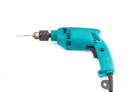 Used Drill isolated on white background