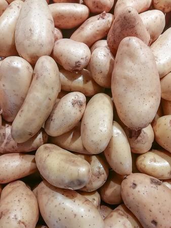 Raw potatoes as background Stok Fotoğraf