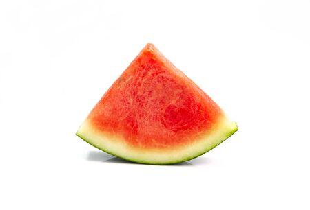 Watermelon cut into pieces on a white background Stok Fotoğraf