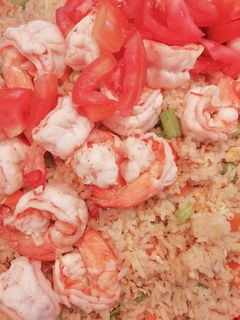 Shrimp fried rice as a vertical 写真素材 - 137837062