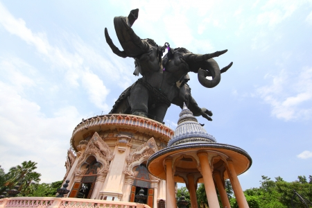 samut prakan: The Erawan Museum at  Samut Prakan province  Editorial