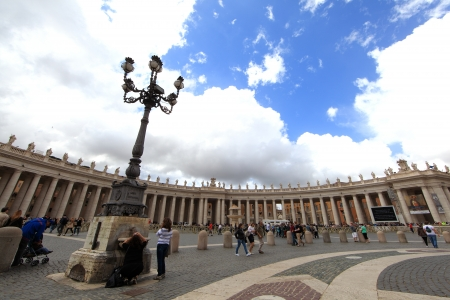 VATICAN CITY, ITALY - May 31  Visitors stream into Saint Mark